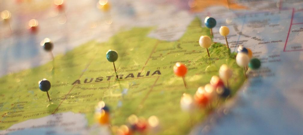 Australien auf der Karte