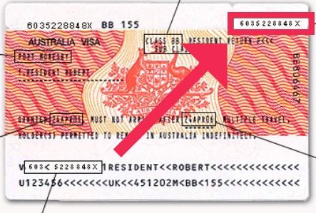 Visa Label Number finden