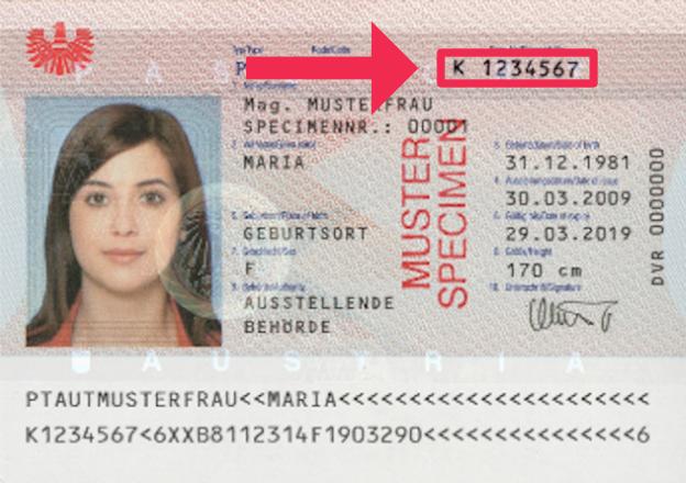 Österreichische Reisepassnummer