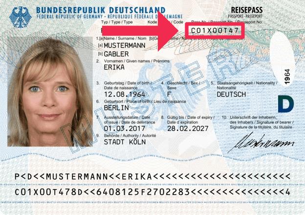 Deutsche Reisepassnummer