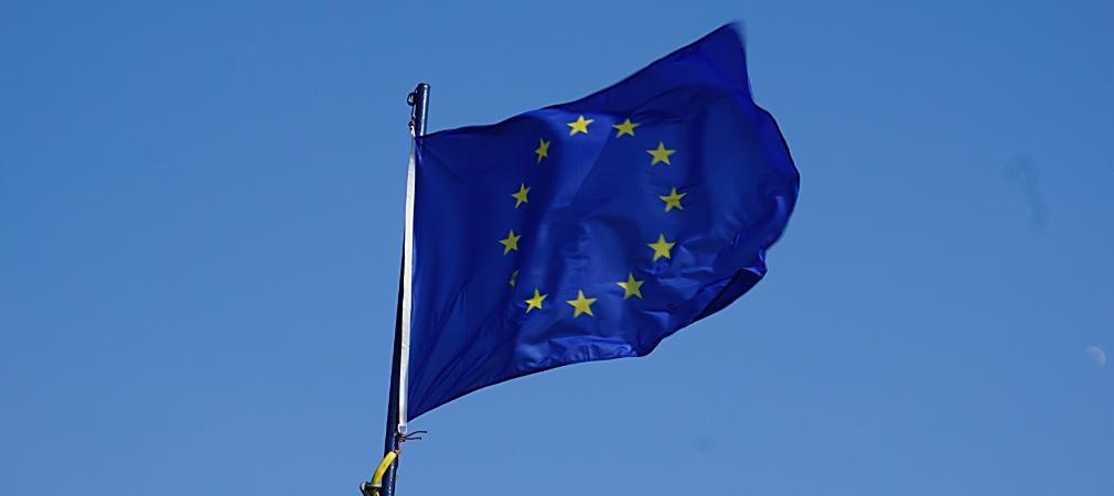 Flagge Europarat und Europäische Union